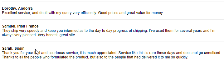 Cheap Pills Testimonials